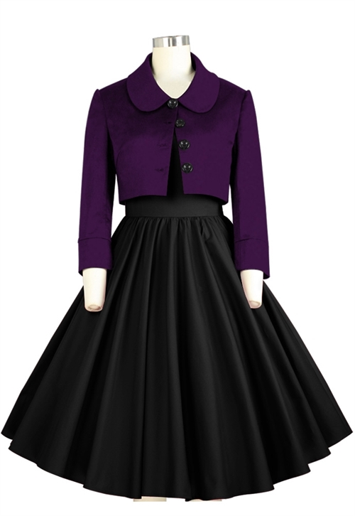 6bf5929bb835 Kort festkjole  Amber - En mørk lilla knælang plus size festkjole