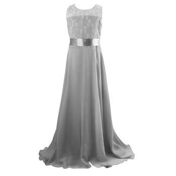 59e8ddc6576 Børne festkjole - Little Rose Mary, grå