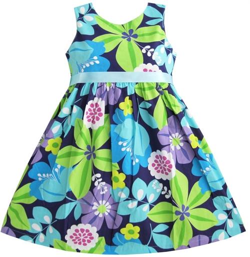 d55a3e4ae100 Callie mini  Sød kjole swingstyle blålige nuancer