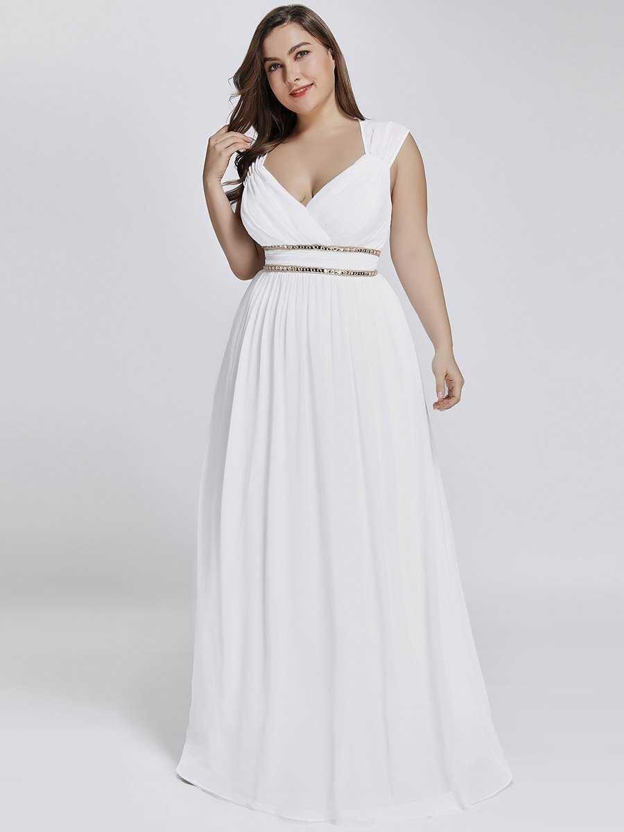 Lang gallakjole - Cleo- hvid, smuk lang festkjole med
