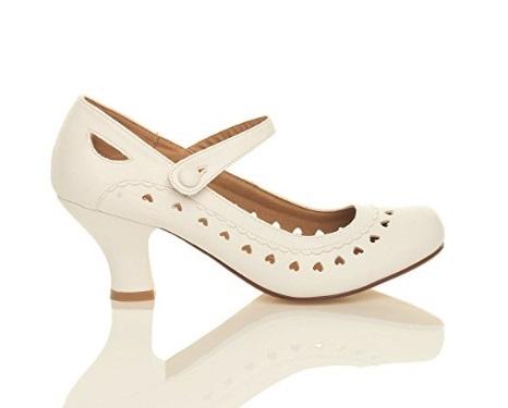69414ad90dd Hjerte sko; Heartly hvid: Søde hvide sko med med mange små hjerter