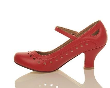 b51d8d99d25 Hjertesko; Heartly røde: Søde røde sko med mange små hjerter