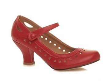 9d898e2ee63 Hjertesko; Heartly røde: Søde røde sko med mange små hjerter