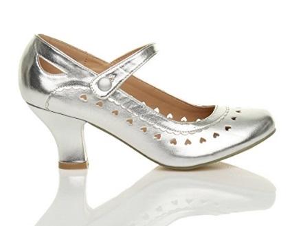 7ecbc3f21b03 Hjerte sko sølv  Heartly  sølvsko med mange små hjerter