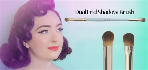 Dual end shadow brush: øjenskyggebørste