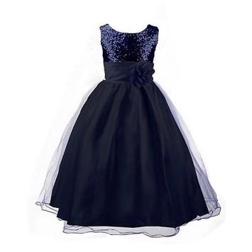 b2121924ebb Børne festkjole: Little Isabella Marie, navy blå