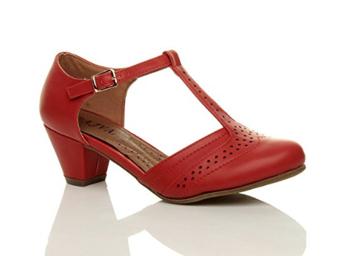 157aef4775e Mary Jane sko: Marleen May rød: Søde røde sko med T-bar