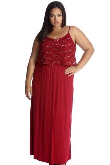 da228d4f Lang festkjole - Jette Marleen i flere farver plus size