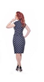 aea926b7470 Vintage hudfarvet luksus nylonstrømper nude med mørk søm og polka prikker