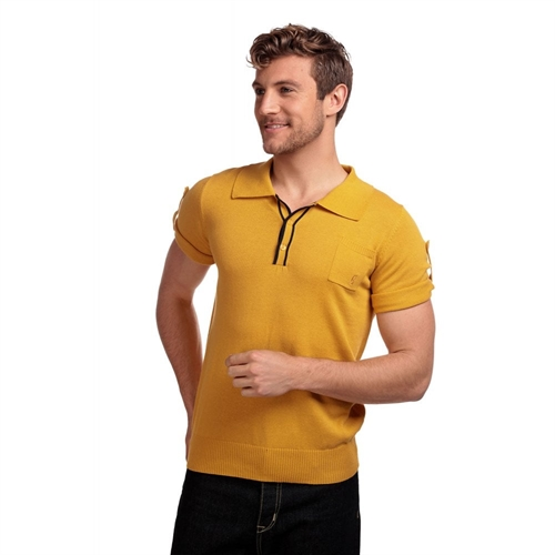 Collectif - Jorge Yellow Polo Shirt