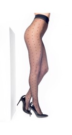 57d7e15f6c6 Vintage sorte luksus nylonstrømper med polka prikker