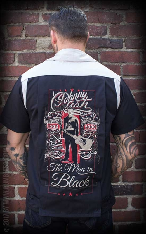Rumble59 Bowling Shirt The Man in Black