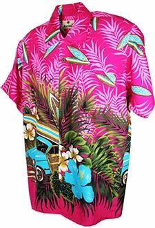 60´s Hawaii Skjorte - Low Rider Pink - Hawaiian Shirt